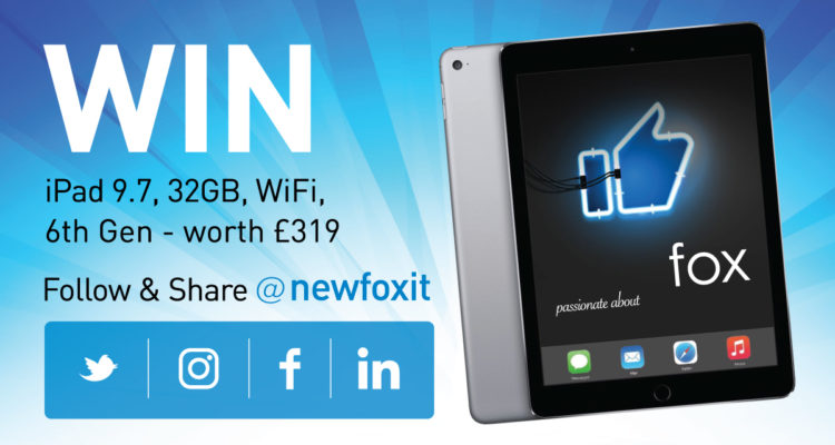 Follow And Share To Win An IPad 9.7