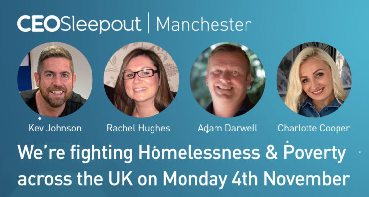 Team Newfox Supports CEO Sleepout Manchester